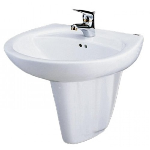 Chậu Rửa Lavabo CAESAR Kèm Chân Treo L2220/P2436
