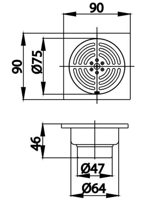 Thoát Sàn COTTO CT646Z1(HM) (Ø47)