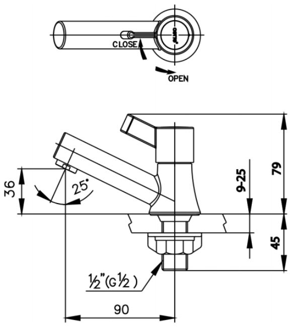 Vòi Lavabo COTTO CT1091C33(HM) Lạnh