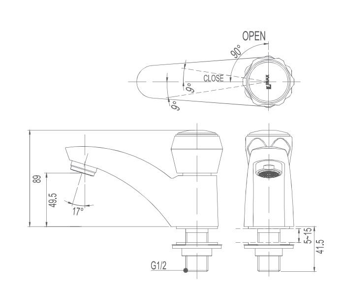 Vòi Nước Lạnh Lavabo Inax LFV-12A
